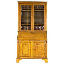 secretary desk arts crafts slant front bureau bookcase scotland for