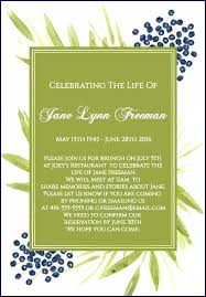 Family Reunion Invitation Letter Best Of Funeral Reception