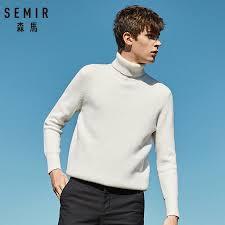 SEMIR <b>Winter Warm Turtleneck Sweater</b> Men Double Collar ...
