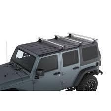 rhino rack vortex 3 bar backbone roof rack for 07 18 jeep wrangler unlimited jk hardtop quadratec