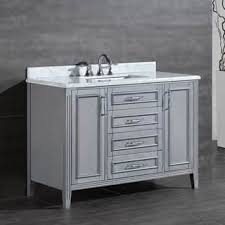 gray bathroom vanity with sink. ove decors daniel 48-inch single sink bathroom vanity with marble top gray n