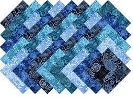 Blue Printed Batik Collection 40 Precut 5-inch Quilting Fabric ... & Blue Printed Batik Collection 40 Precut 5-inch Quilting Fabric Charm Squares Adamdwight.com