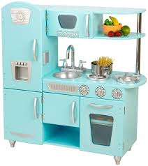 Kid Craft Retro Kitchen Amazoncom Kidkraft Vintage Kitchen In Blue Toys Games
