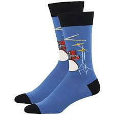 socksmith men s drum solo novelty sock