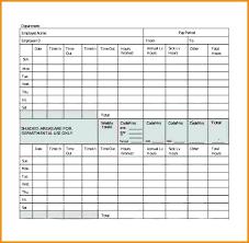 Time Card Sheets Free Sheet Blank Form Arlingtonmovers Co