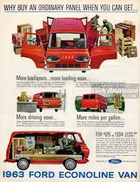 What a pickup! 1963 Ford Econoline Vans | Advertising | Ford trucks ...