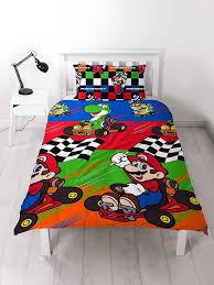 nintendo mario kart champs single duvet cover set polyester