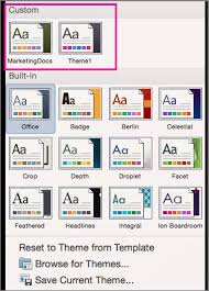 Customize Save And Apply A Theme In Word For Mac Office Support