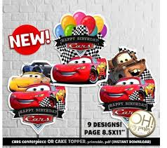 Cars Centerpiececars Cake Toppercars 3 Centerpiece Cars 3 Cake