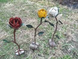 21 Rose Rock Garden Art Yard Ornament