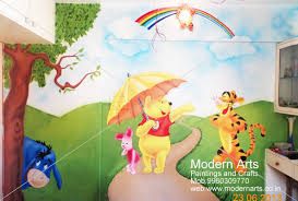 ... Wall painting with cartoon design for kids bedroom pune ...
