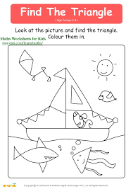 Find The Triangle ( Age Group: 3-4 ) Look at the picture and find ...