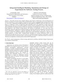 Design Of Experiments Software Testing Pdf Integrated Intelligent Modeling Simulation And Design