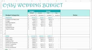 Budgeting For Wedding Example Of Excel Spreadsheet For Budgeting Wedding Budget