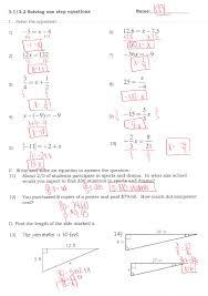 multiple step equations worksheeti and inequalities answers pre algebra practice solving worksheet 7 2 multi