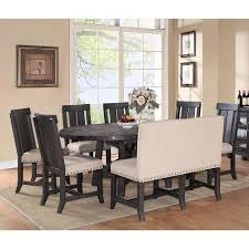 get ations modus yosemite 8 piece oval dining table set with wood chairs and settee