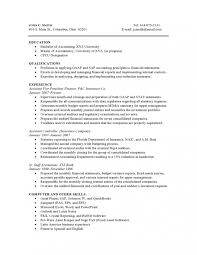 Accounting High Experience Resume Samples Vault Combination