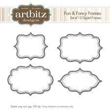 printable frame templates template printable frame template fancy clip art picture templates