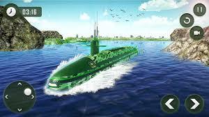 submarine driving military transporter game poster