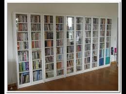 book shelf with glass door you