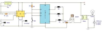 adjustable timer circuit diagram relay output r1