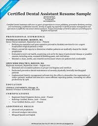 Resume Template Sample Dental Assistant Resume Best Sample Resume