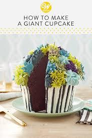 How To Make A Giant Cupcake The Wilton Blog Giant Cupcake Cakes