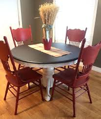 red dining table and chairs dining set in java gel stain and brick red milk paint red dining table and chairs