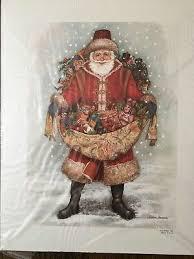 VINTAGE 1991 NADINE HARPER SANTA CLAUS OLD WORLD FATHER CHRISTMAS PRINT    eBay