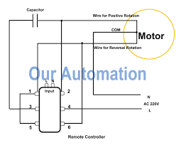 ac motor control wiring diagram ac image wiring how to control ac motor by dpdt switch and remote controller our on ac motor control