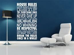 house rules wall art quote wall sticker vinyl transfer decal modern wall art on house rules wall art suppliers with house rules wall art quote wall sticker vinyl transfer decal modern