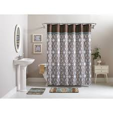better homes and gardens 15 piece geometric bath set shower curtain and bath rugs com