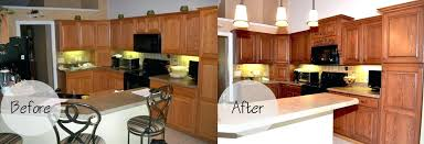 sears cabinet refacing before and after kitchen cabinet refacing
