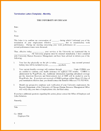 Termination Of Employment Letter Template Mutual Termination Of Employment Letter Template Inspirationa Letter