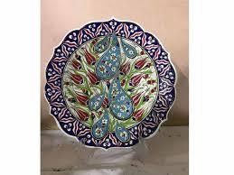 Floral Plate Design Wall Hanging Plate Floral Pattern Turkish Plate Design Turkish Souvenir 30cm