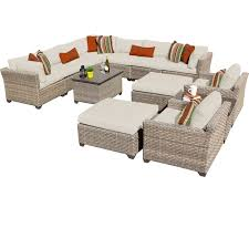patio couch set. Wicker Conversation Sets Patio Couch Set 5