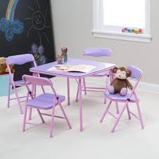 space saving folding furniture. Folding Table And Chairs For Kids Daughter Lovely Space Saving Dining Set In Purple Color Design Ideas Furniture V