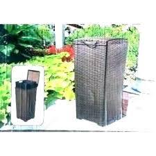 suncast garbage can wicker garbage can bi outdoor wicker gallon trash bin trash cans storage garbage