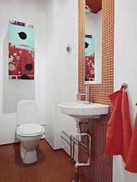 simple white bathrooms. Masculine Red And White Bathroom Decorating Ideas For Men With Simple Toilet Design Bathrooms