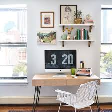 office desk with shelves. office shelves above desk with e