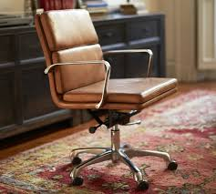 leather swivel office chair. stylish leather desk chair nash swivel pottery barn office
