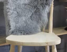 sheepskin rug grey