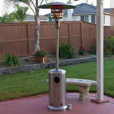 stainless steel outdoor patio heater propane lp gas commercial restaurant new 0