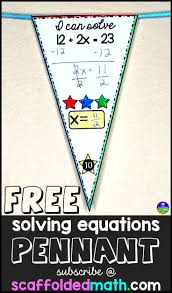 you will receive this free math pennant for solving 2 step equations straight to your inbox