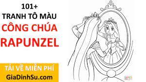 MIỄN PHÍ] tải 101+ hình tô màu công chúa Rapunzel cho bé - Công chúa Tóc  mây - tại Giadinhsu.com - YouTube
