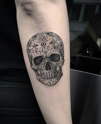 Beautiful Sugar Skulls And Day Of The Dead Tattoos