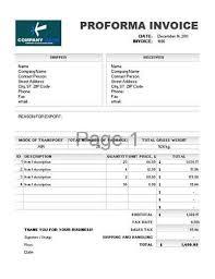 Proforma Invoice Template 4 Invoice Template Word Invoice