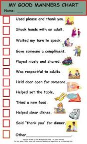 best manners images good manners manners and  good manners and courtesy behavior chart