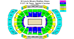 Blues Hockey Tickets Seating Chart Dallas Stars Vs St Louis Blues Sprint Center