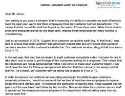 Sample Complaint Letters About Your Boss Sample Good